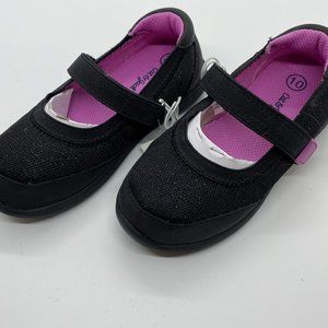 Cat & Jack Girls size 10 black sparkly shoes-NWT
